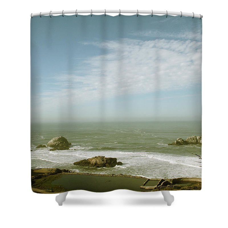 San Francisco Shower Curtain Featuring The Photograph Sutro Baths By Linda Woods