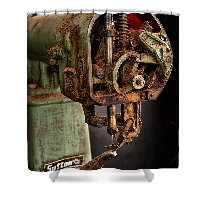 Mechanical Shower Curtain featuring the photograph Suttan Sewing Machine by Christopher Holmes