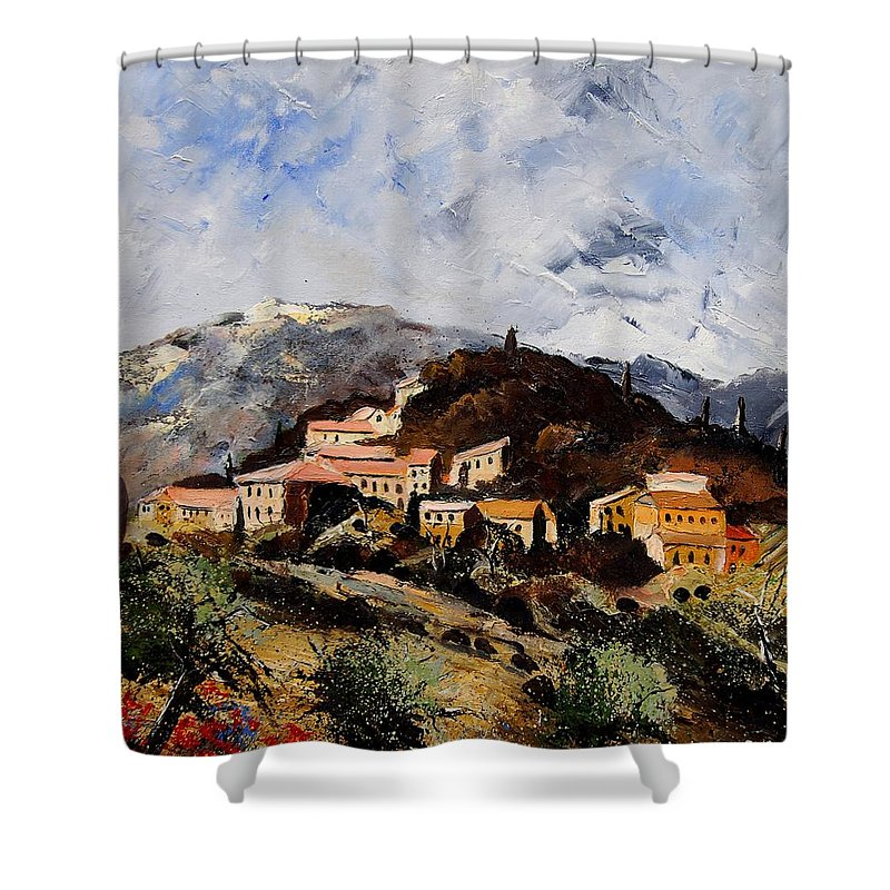 Tree Shower Curtain featuring the painting Suzette Provence by Pol Ledent