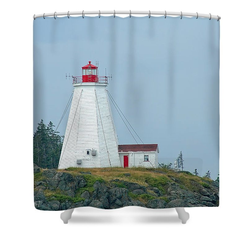 Lighthouse Shower Curtain featuring the photograph Swallowtail Lighthouse by Thomas Marchessault