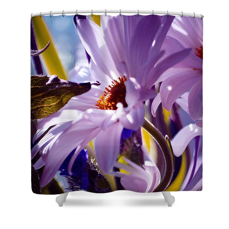 Flowers Shower Curtain featuring the photograph Swan... by Arthur Miller