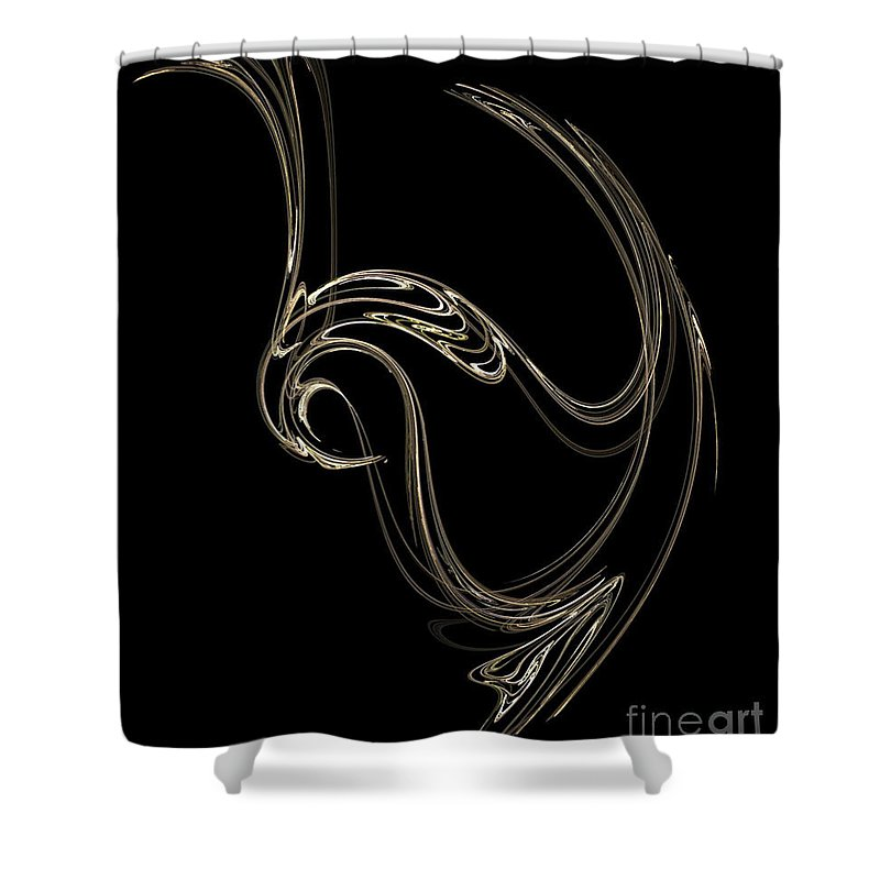 Fractals Shower Curtain featuring the digital art Swan Dance by Richard Rizzo