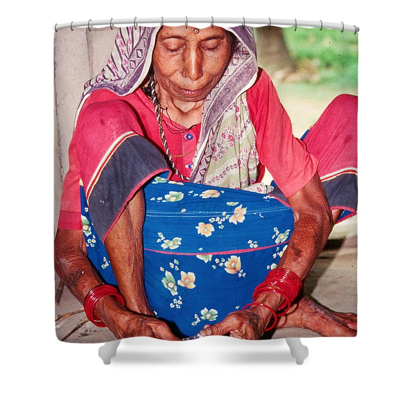Tharu Shower Curtain featuring the photograph Swanchiria by Omar Shafey