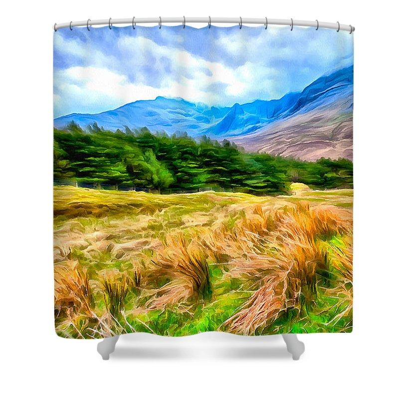 Field Shower Curtain featuring the photograph Sway by Sharon Ann Sanowar