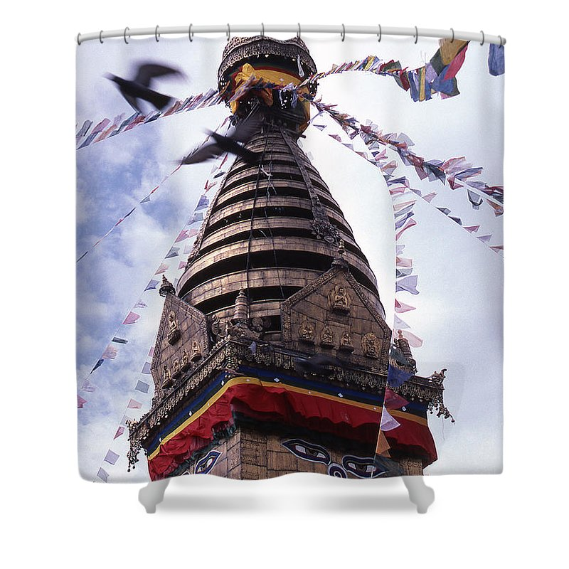 Swayambhunath Shower Curtain featuring the photograph Swayambhunath by Patrick Klauss