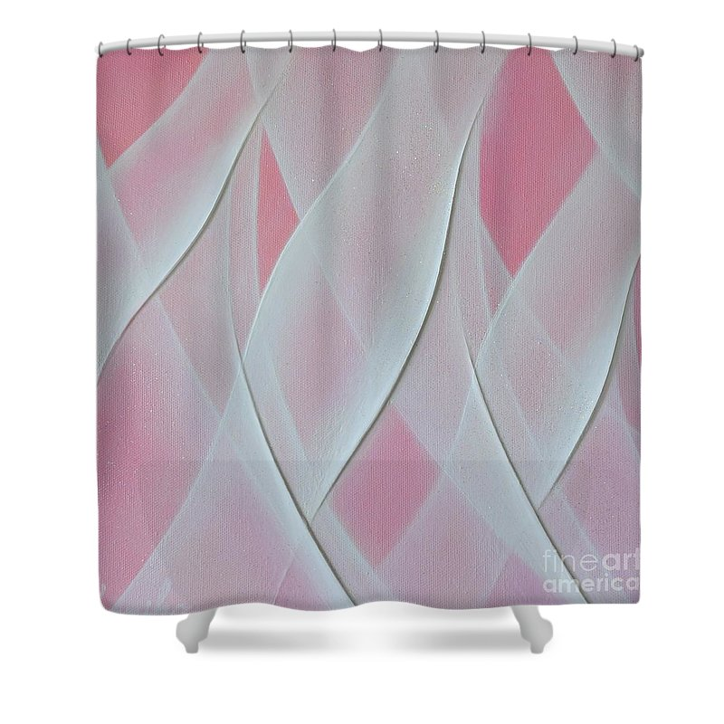 Light Shower Curtain featuring the painting Crystal Sweet 2 by Kumiko Mayer