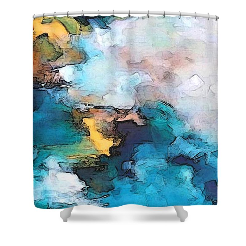 Abstract Shower Curtain featuring the digital art Sweet Memory Shades by Linda Mears