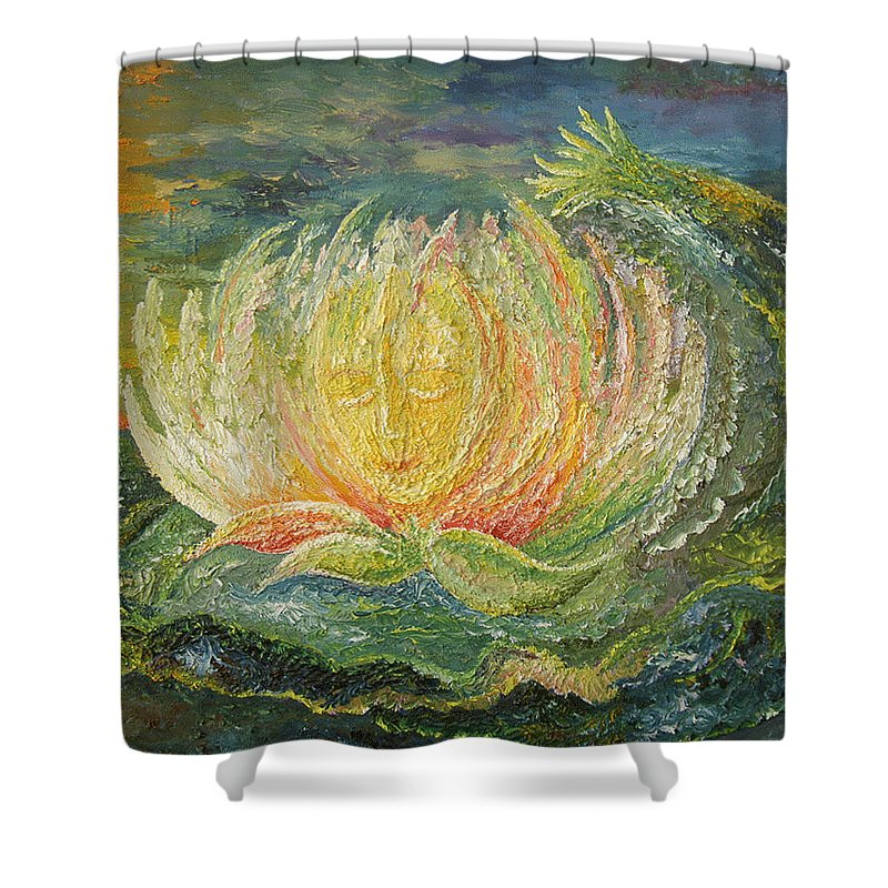 Flower Shower Curtain featuring the painting Sweet Morning Dream by Karina Ishkhanova