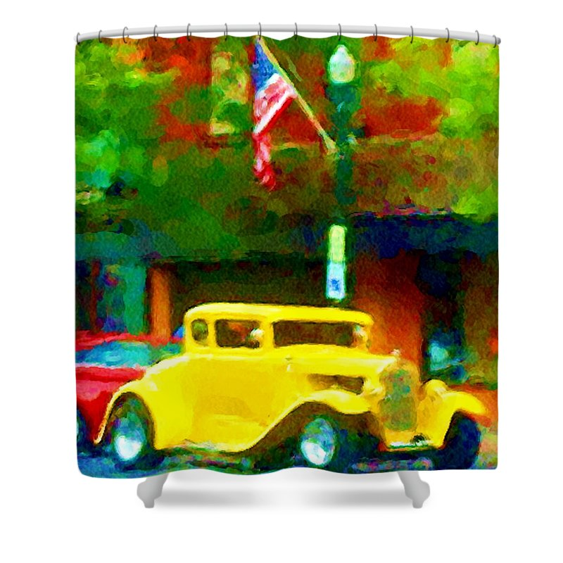 Hot Rod Shower Curtain featuring the photograph Sweet Ride by David Lane