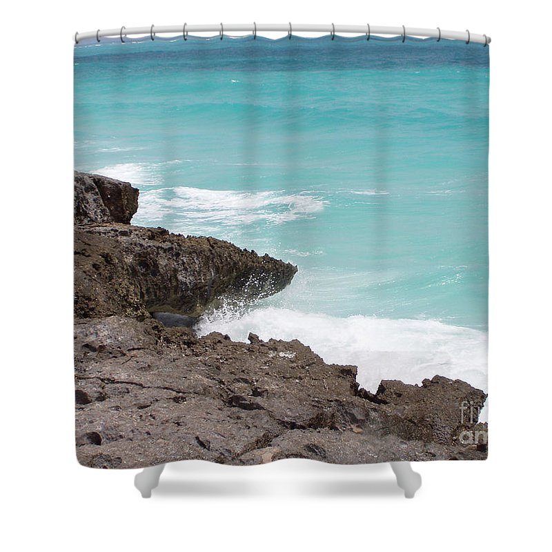 Water Shower Curtain featuring the photograph Sweet Saltyness by Amanda Barcon