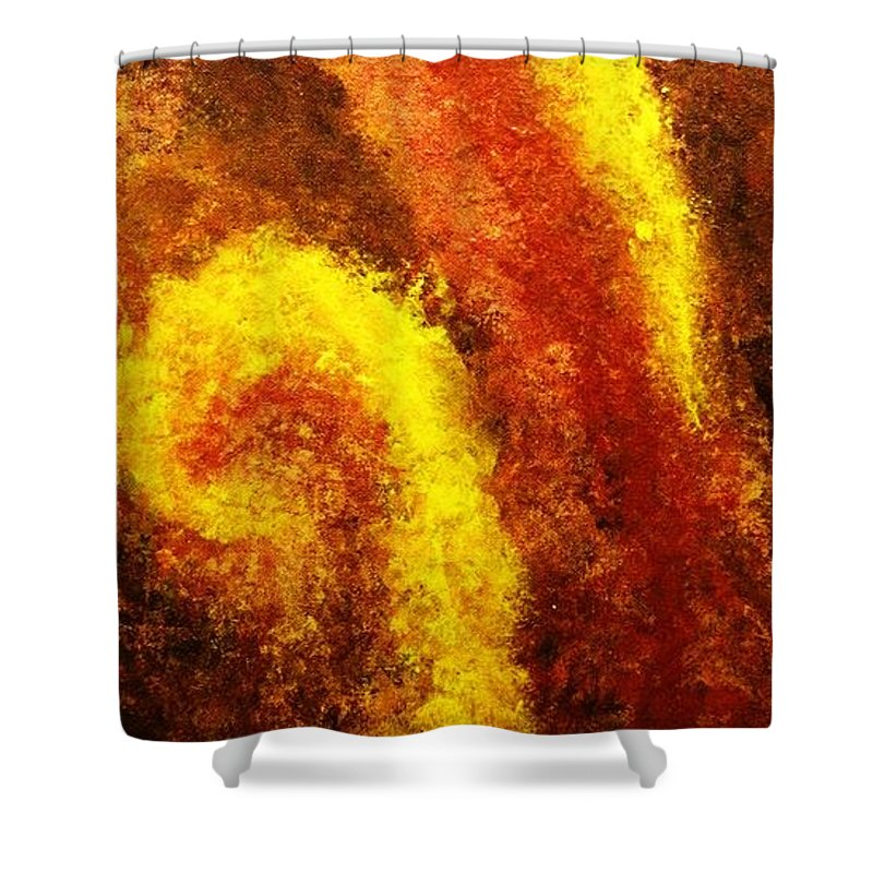 Abstract Shower Curtain featuring the painting Sweet September by Todd Hoover