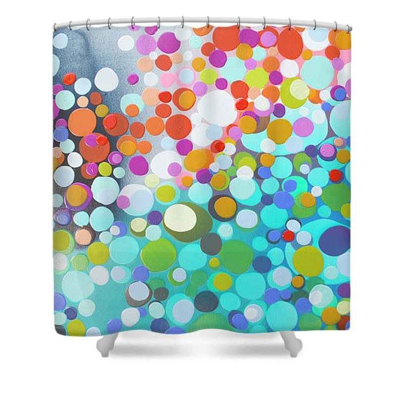 Abstract Shower Curtain featuring the painting Sweet Thing by Claire Desjardins