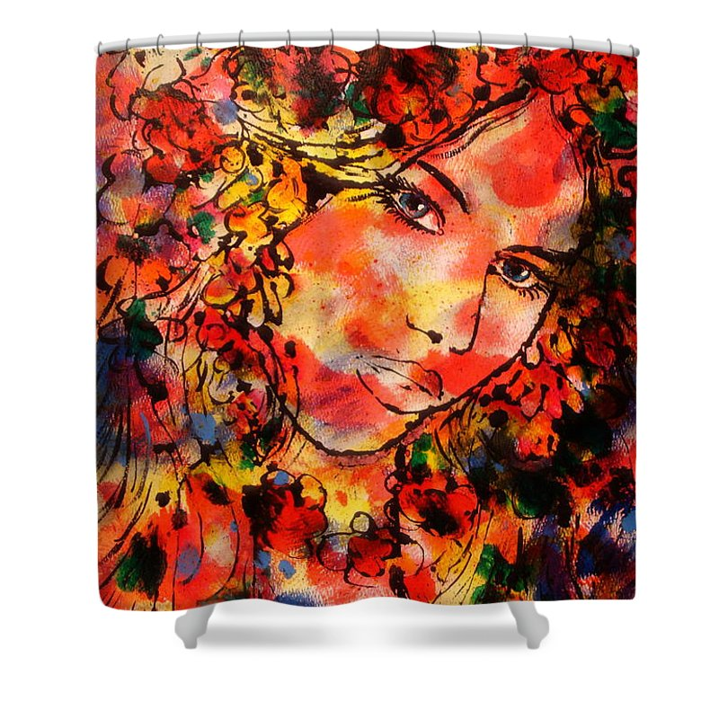 Impressionism Shower Curtain featuring the painting Sweetheart by Leonard Holland