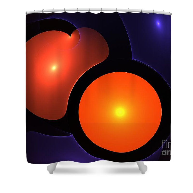 Heart Shower Curtain featuring the painting Sweetheart by Steve K