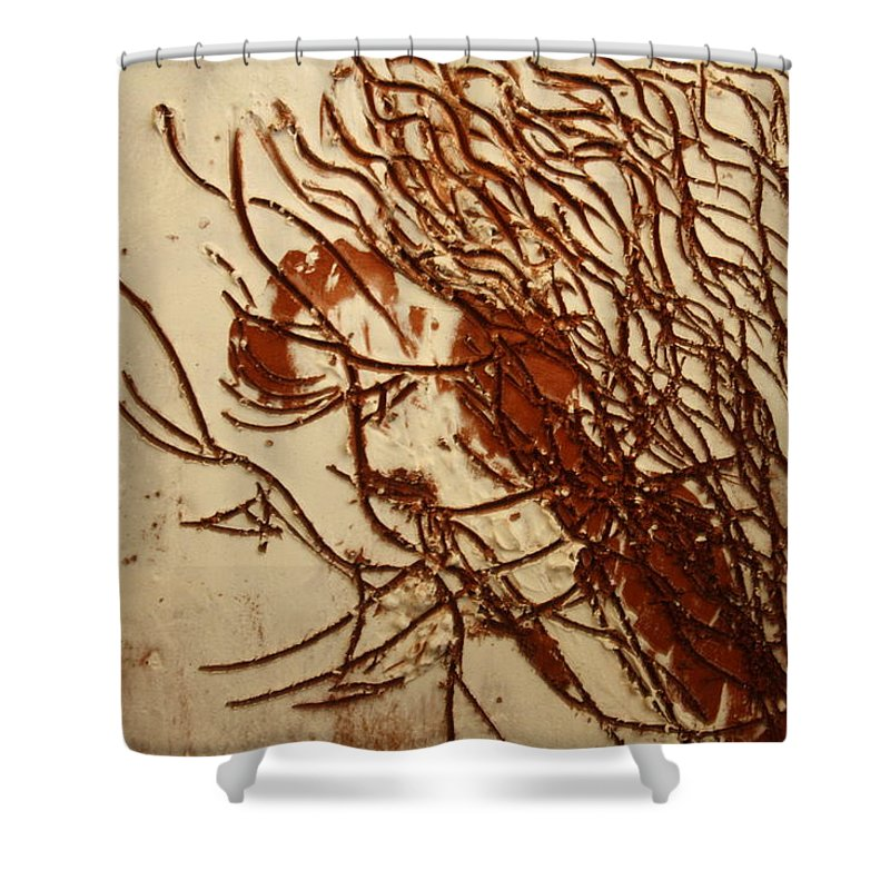 Jesus Shower Curtain featuring the ceramic art Sweethearts 19 - Tile by Gloria Ssali