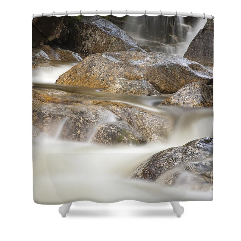 Rushing Water Shower Curtain featuring the photograph Swift River - White Mountains New Hampshire Usa by Erin Paul Donovan