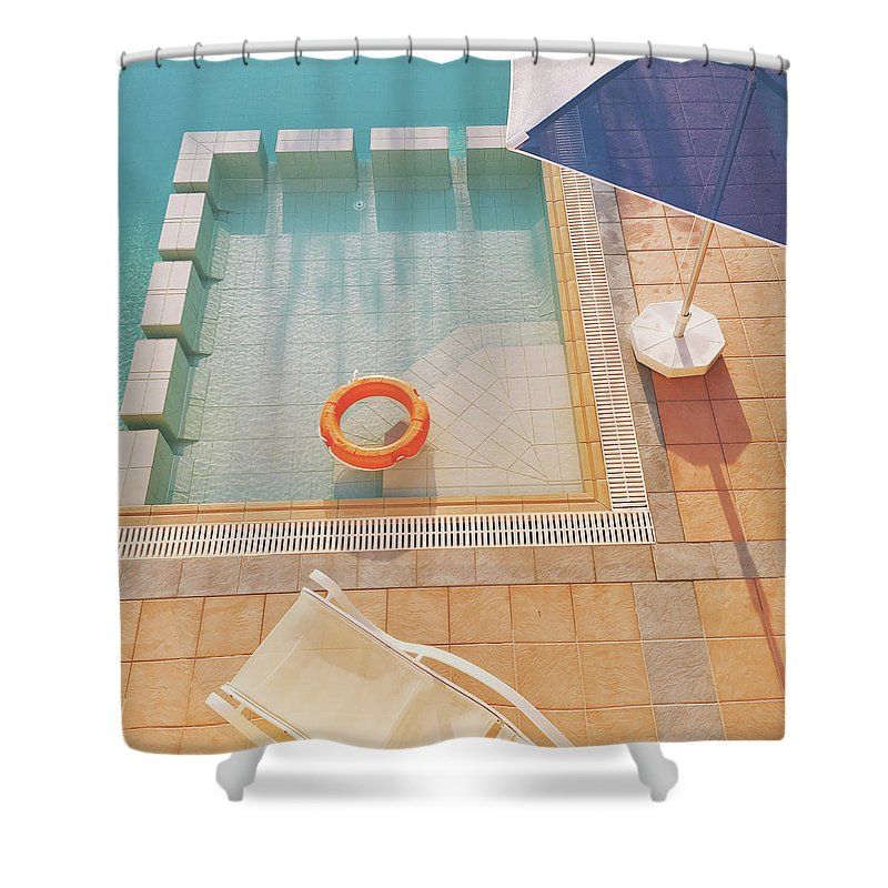 Water Shower Curtain featuring the photograph Swimming Pool by Cassia Beck
