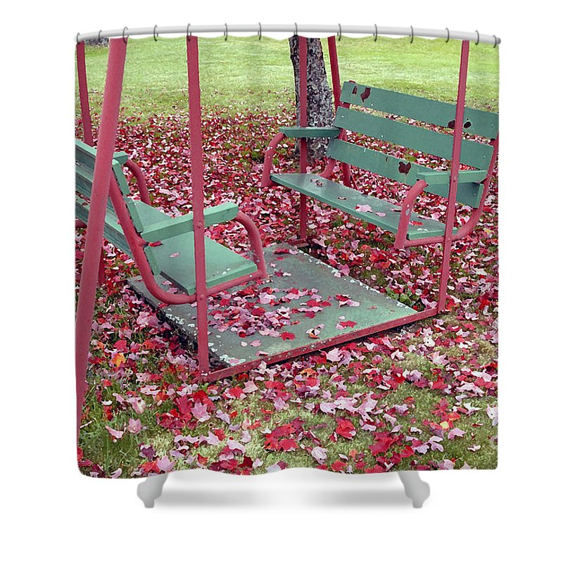 Swing Set Shower Curtain featuring the photograph Swing Set by David Lee Thompson