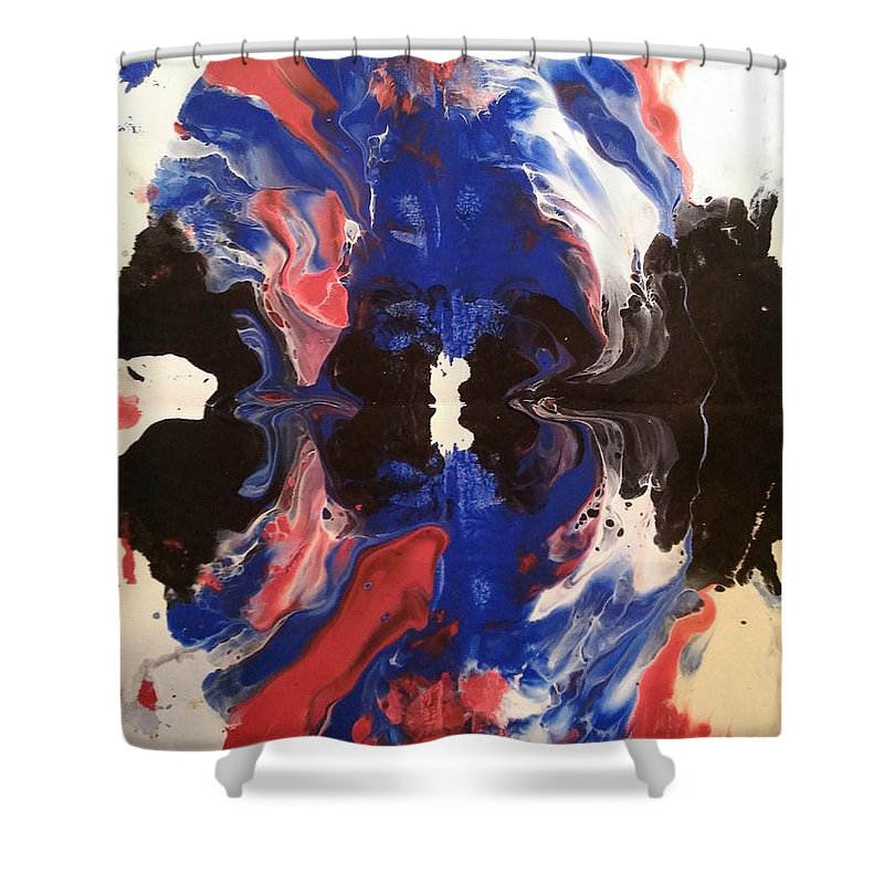 Swirl Shower Curtain featuring the painting Swirl by Jessica Baker