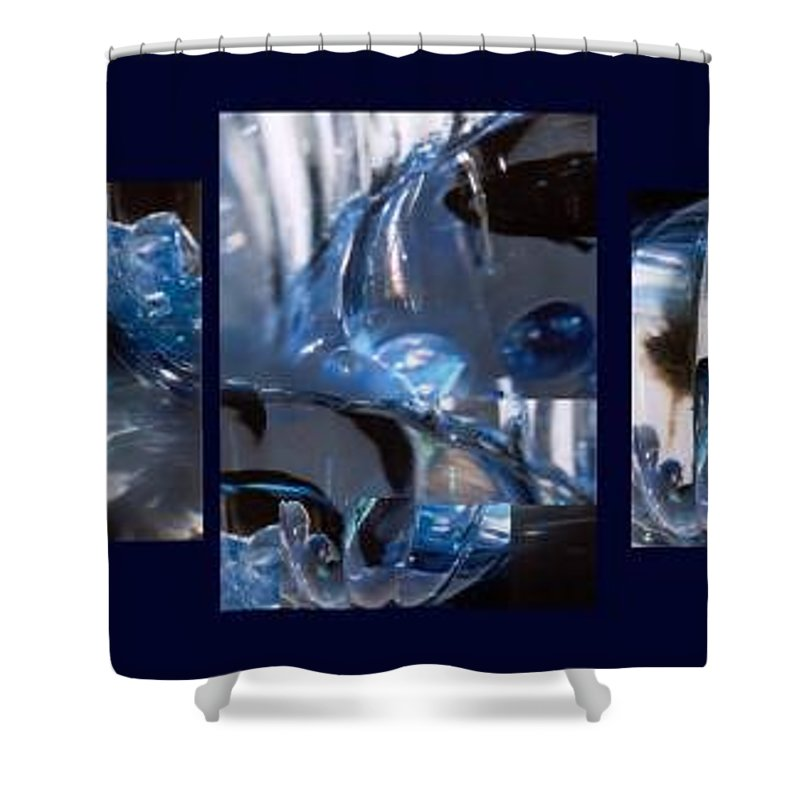Abstract Of Betta In A Bowl Shower Curtain featuring the photograph Swirl by Steve Karol