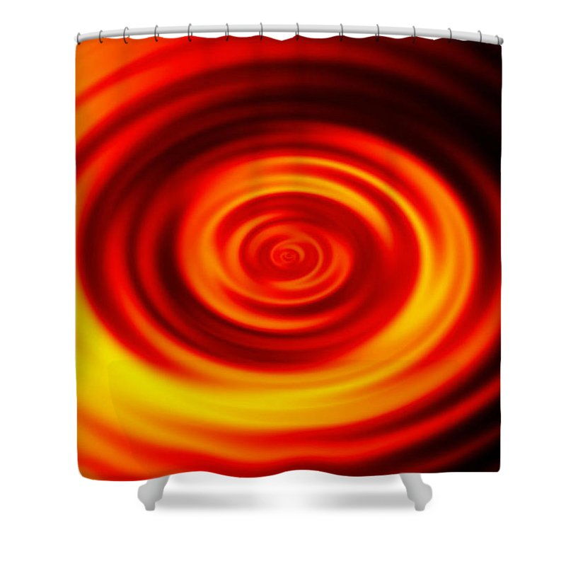 Swirled Shower Curtain featuring the digital art Swirled Sunrise by Rhonda Barrett