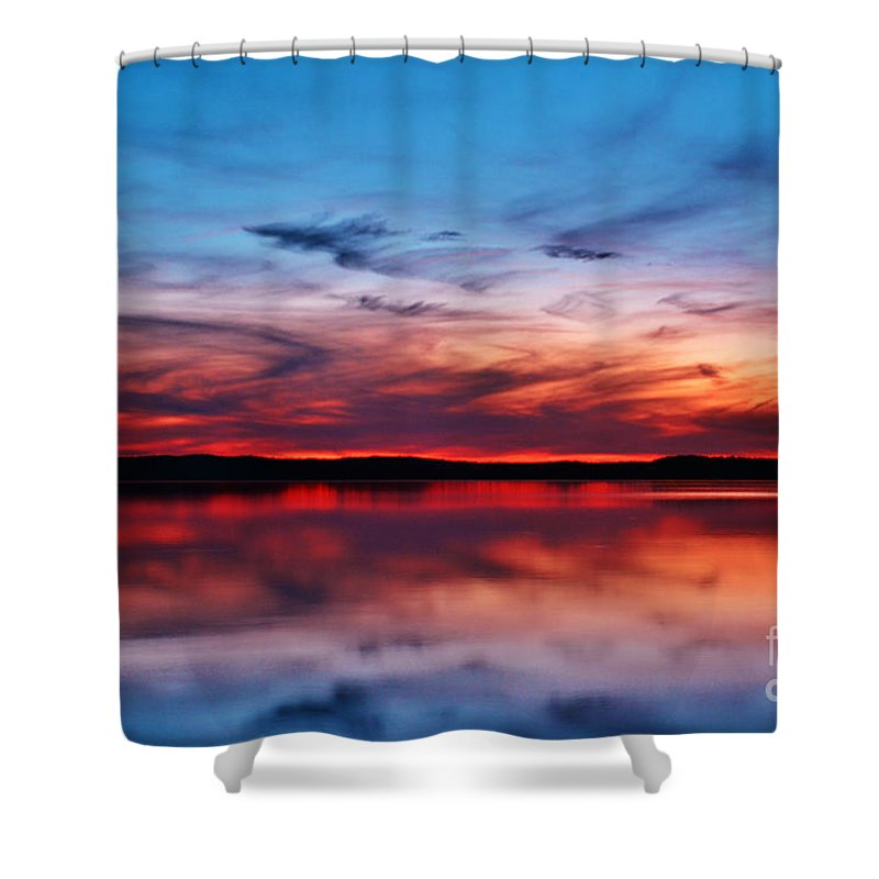 Dusk Shower Curtain featuring the photograph Swirls And Twirls At Twilight by Kelly Nowak