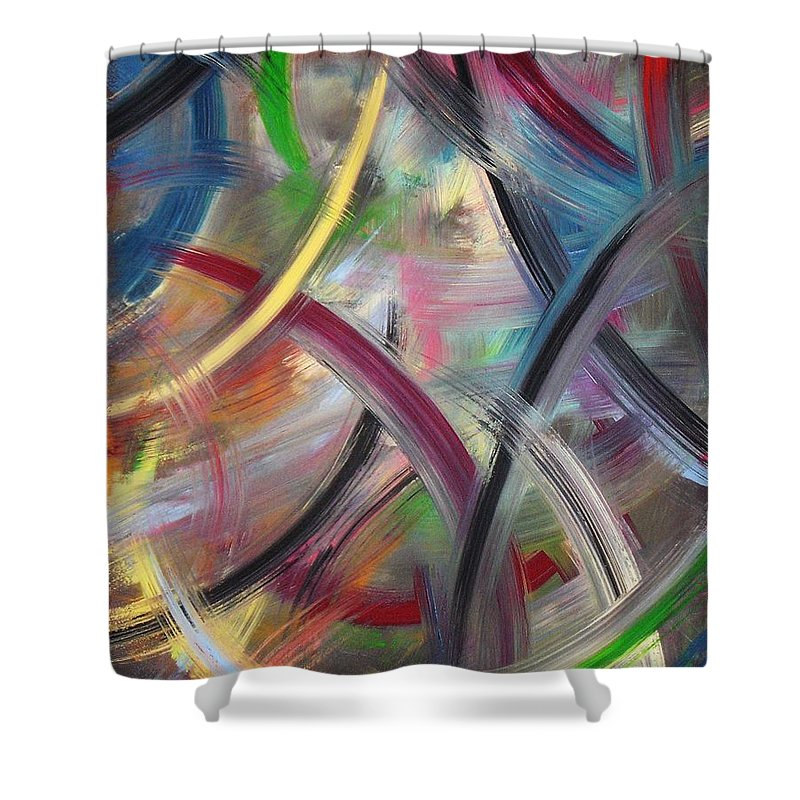 Acrylic Shower Curtain featuring the painting Swish by Todd Hoover