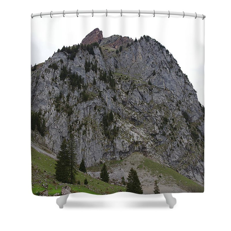 Landscape Shower Curtain featuring the photograph Switzerland. Large Mythen by Pavel Klyuyev