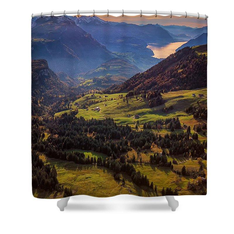 Switzerland Shower Curtain featuring the photograph Switzerland by Nedjat Nuhi