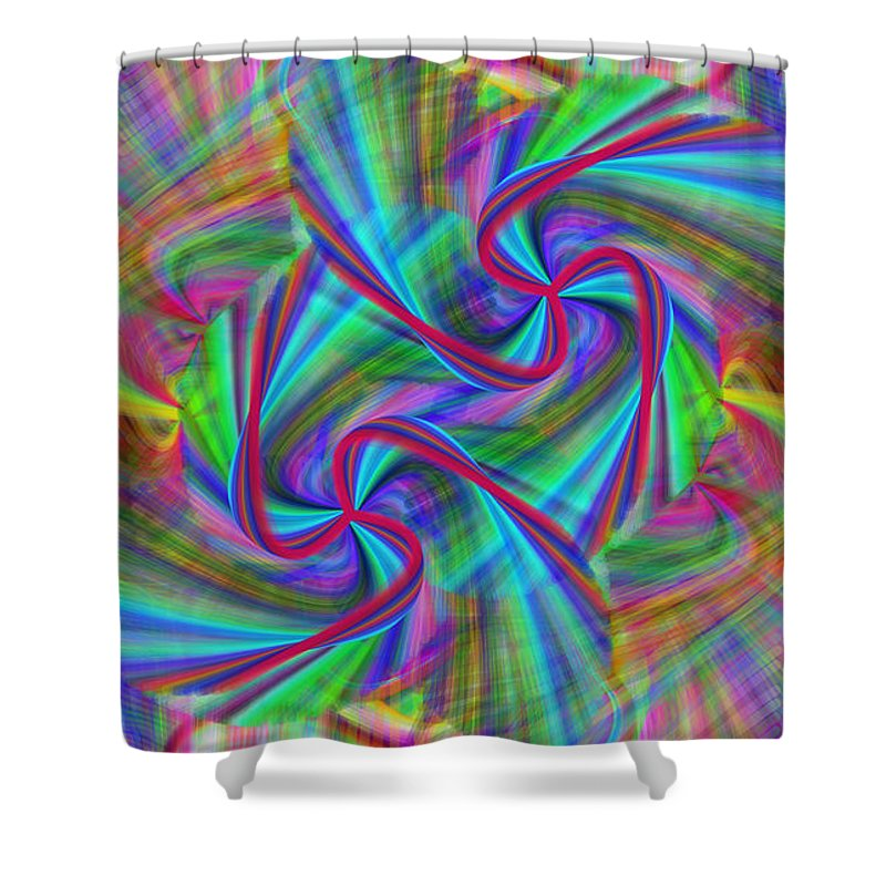 Art. Painting. Colors Shower Curtain featuring the painting Swivel Art by Sheila Mcdonald