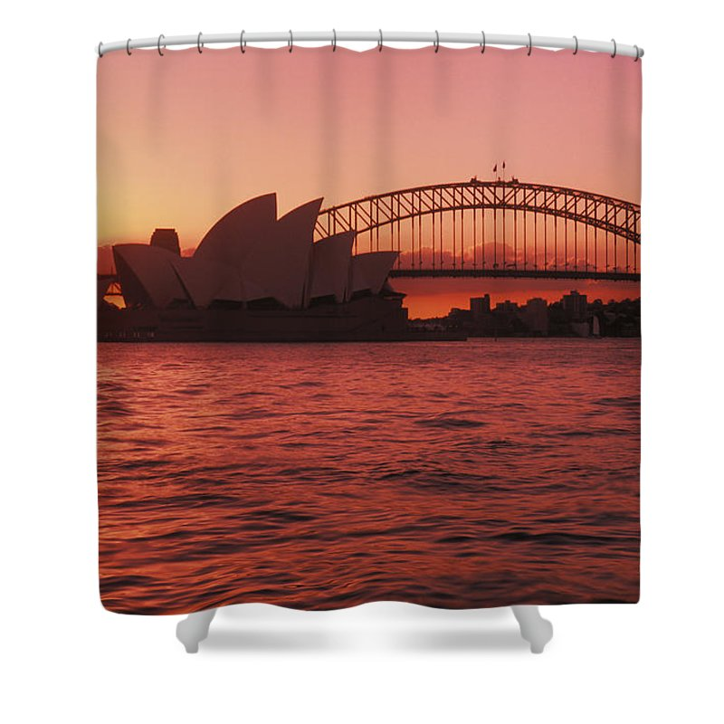 Arch Shower Curtain featuring the photograph Sydney Opera House by Bill Bachmann - Printscapes