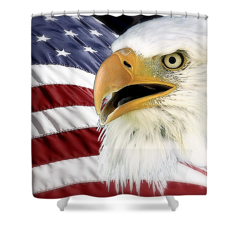 Bald Eagle Shower Curtain featuring the photograph Symbol Of America by Teresa Zieba