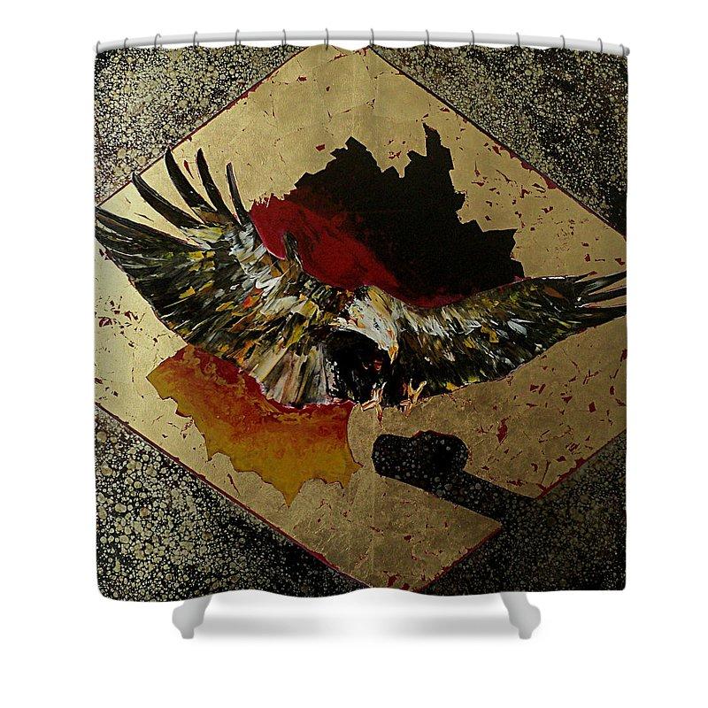 Eagle Shower Curtain featuring the painting Symmetrie Und Symbolik Deutschland by Nelu Gradeanu