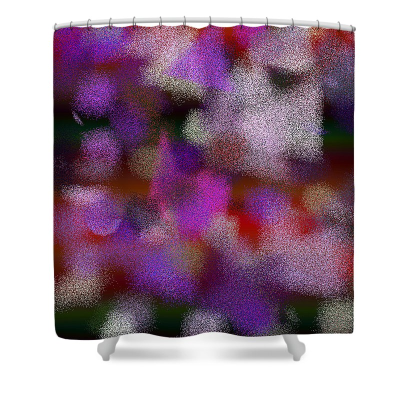 Abstract Shower Curtain featuring the digital art T.1.1233.78.1x1.5120x5120 by Gareth Lewis