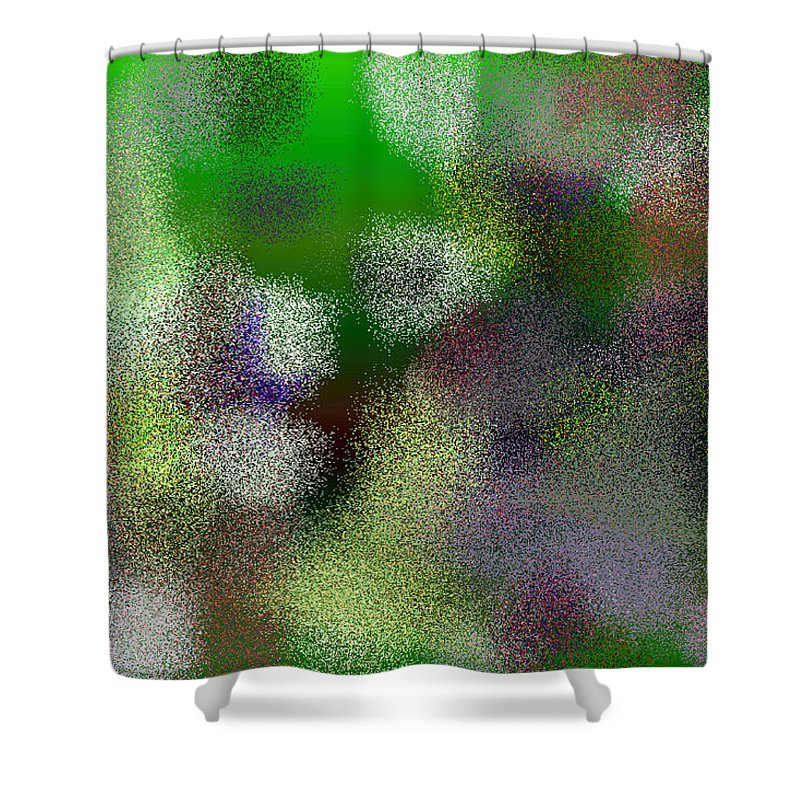 Abstract Shower Curtain featuring the digital art T.1.1271.80.3x2.5120x3413 by Gareth Lewis