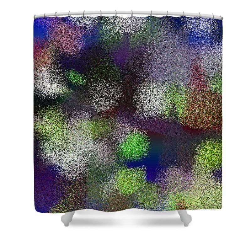 Abstract Shower Curtain featuring the digital art T.1.1272.80.3x4.3840x5120 by Gareth Lewis