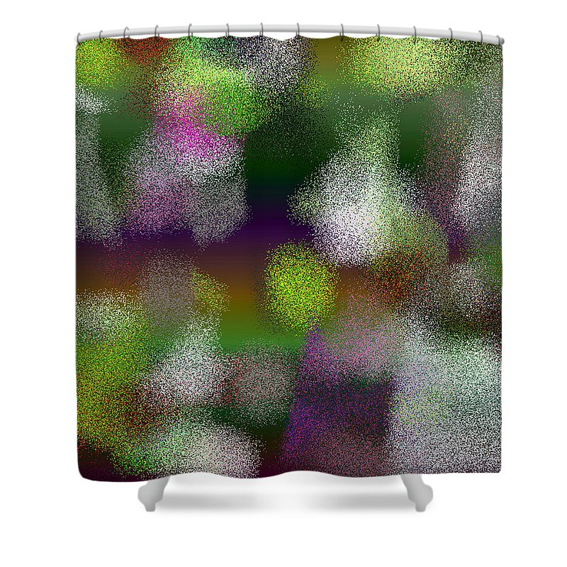 Abstract Shower Curtain featuring the digital art T.1.1277.80.5x4.5120x4096 by Gareth Lewis
