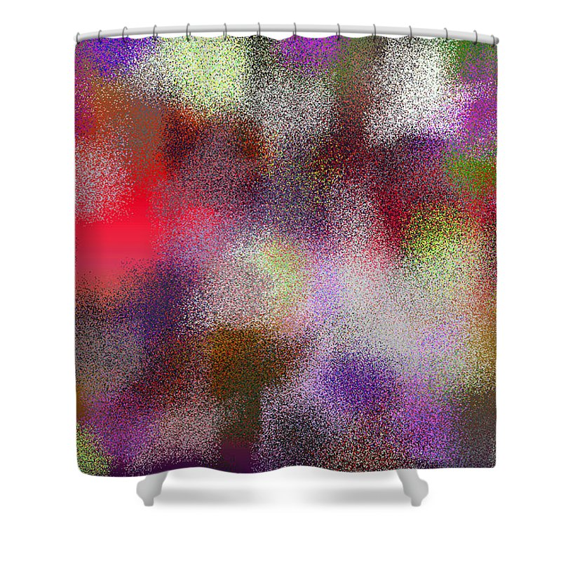 Abstract Shower Curtain featuring the digital art T.1.1287.81.3x2.5120x3413 by Gareth Lewis