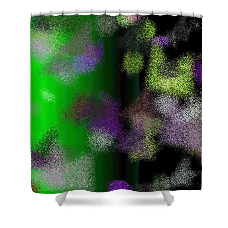 Abstract Shower Curtain featuring the digital art T.1.1296.81.16x9.9102x5120 by Gareth Lewis