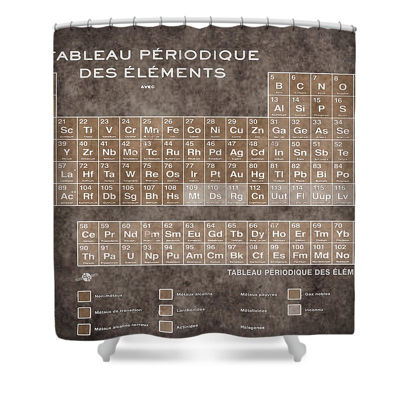 Tableau periodiques periodic table of the elements vintage chart periodic table of the elements vintage chart on worn stained distressed canvas shower curtain featuring the urtaz Image collections