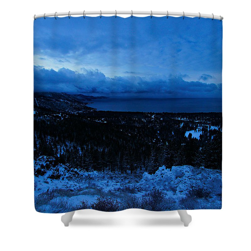 Lake Tahoe Shower Curtain featuring the photograph Tahoe Dawning by Sean Sarsfield