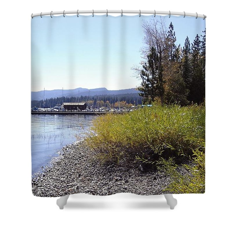 Lake Shower Curtain featuring the photograph Tahoe by Mary Rogers
