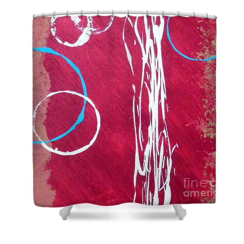 Rustic Abstract Shower Curtain featuring the painting Tahoe Texture by Jilian Cramb - AMothersFineArt