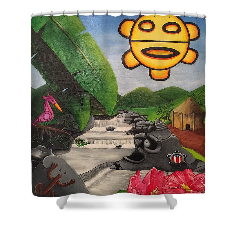 Taino Symbology Shower Curtain For Sale By David Galarza