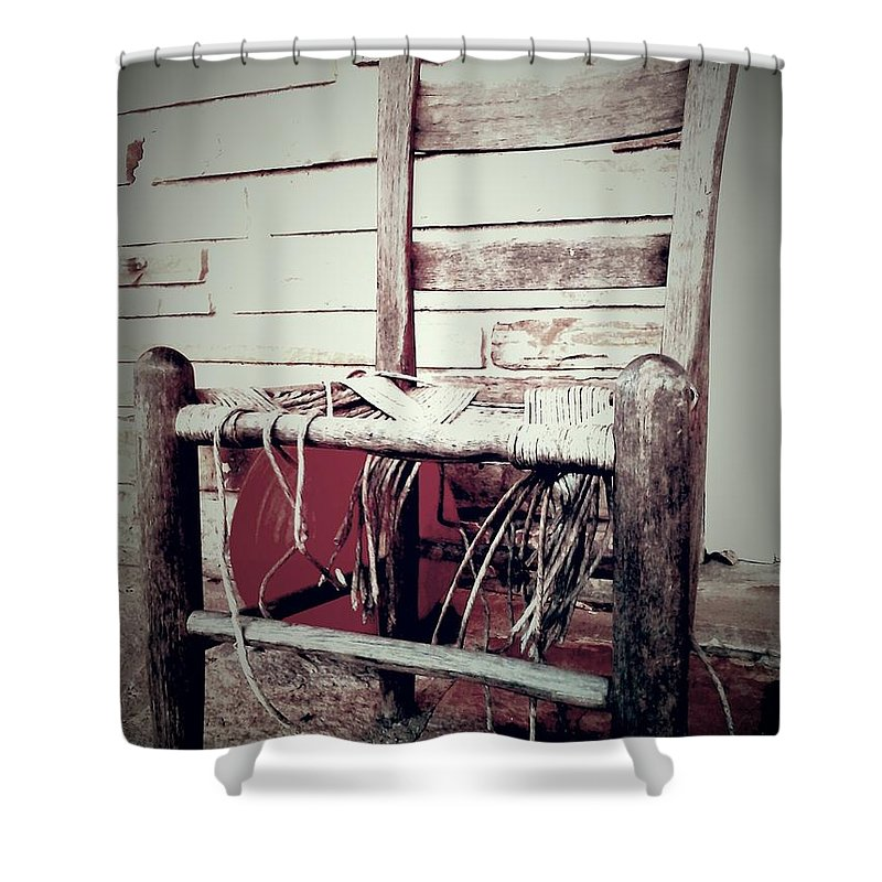 Chair Shower Curtain featuring the photograph Take A Seat by Chuck Piel