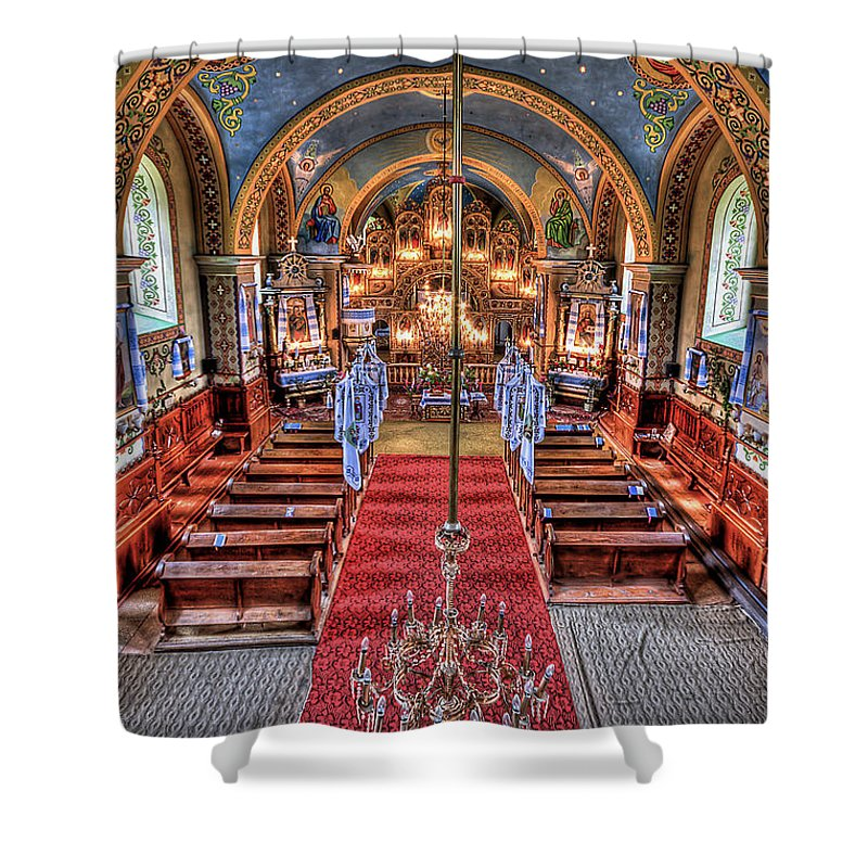 Church Shower Curtain featuring the photograph Take A Seat by Evelina Kremsdorf