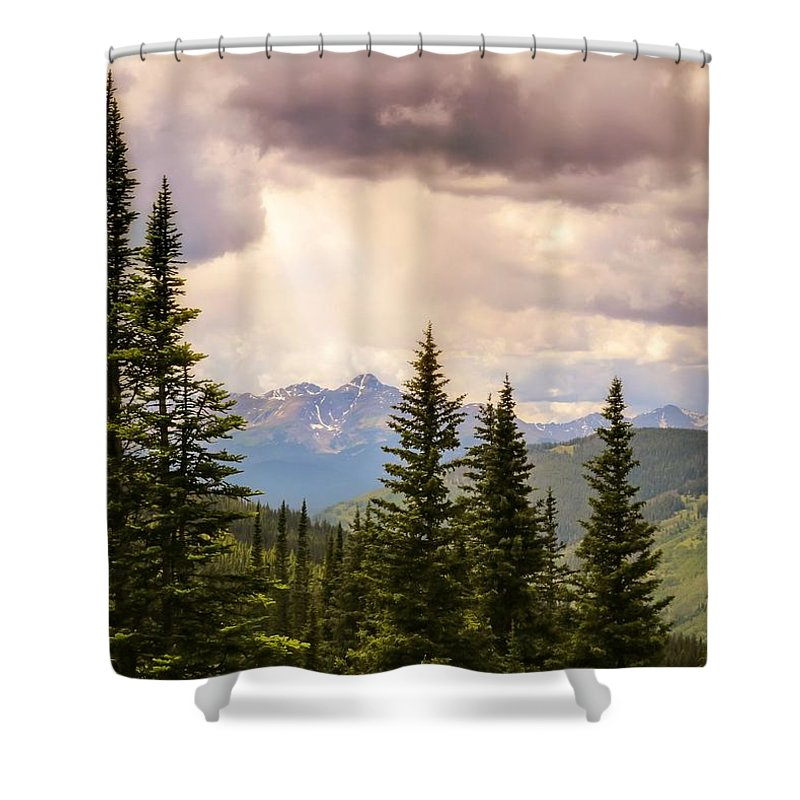 Heavens Shower Curtain featuring the photograph Take Heart by LeAnne Perry