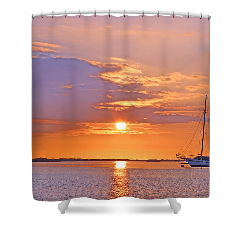 Sail Shower Curtain featuring the photograph Take Me Away by Melissa Nakamura