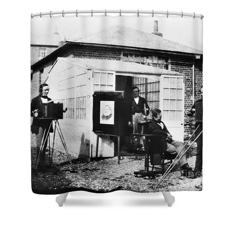 1845 Shower Curtain featuring the photograph Talbotype, 1845 by Granger