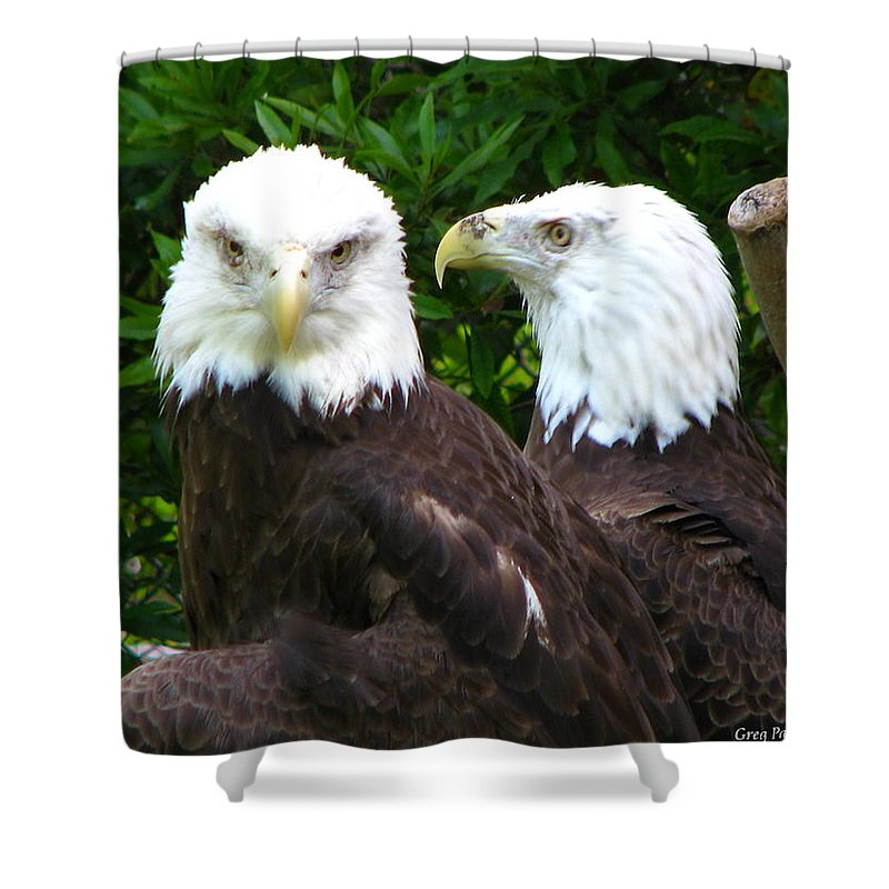 Shower Curtain featuring the photograph Talking To Me by Greg Patzer
